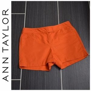 Ann Taylor Signature Orange Shorts Size 10